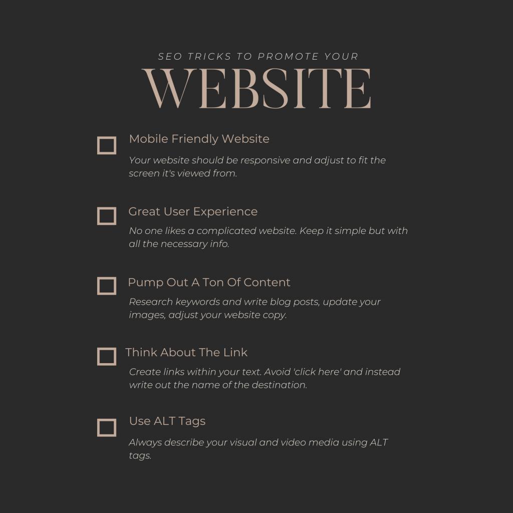 SEO, Website, SEO tricks, SEO tips, website optimization